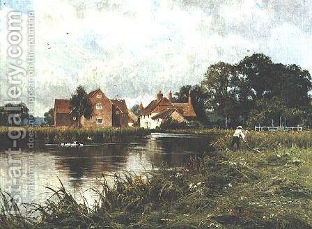 Padworth Mill on the River Kennet by Edward Wilkins Waite - Reproduction Oil Painting
