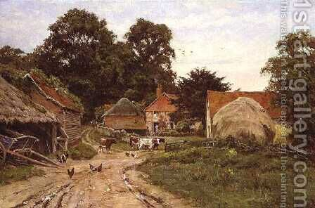 A Surrey Homestead, 1921 by Edward Wilkins Waite - Reproduction Oil Painting