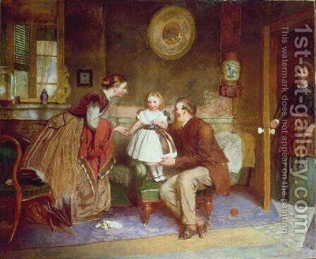 The Apple of their Eye by James Clarke Waite - Reproduction Oil Painting