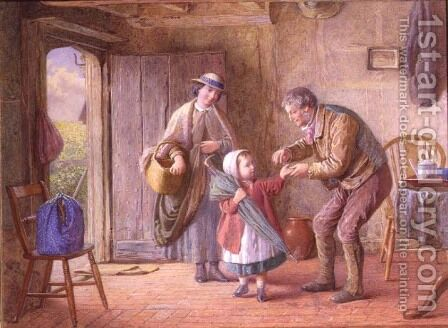 A Penny For Yourself by James Clarke Waite - Reproduction Oil Painting