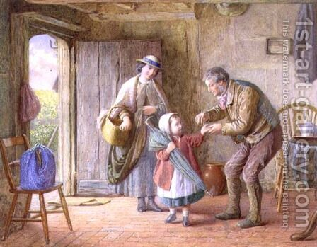 A Penny for Yourself, c.1870 by James Clarke Waite - Reproduction Oil Painting