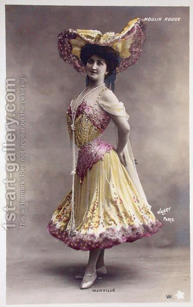 Post Card of Marville (a dancer at the Moulin Rouge) by (after) Walery, Stanislas - Reproduction Oil Painting