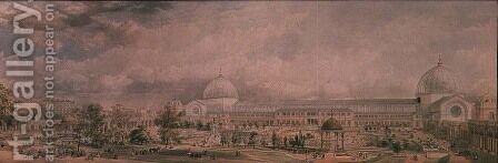 The International Exhibition of 1862 by Edmund Walker - Reproduction Oil Painting
