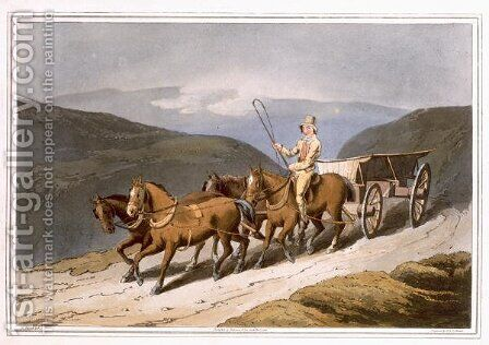 The East Riding or Wolds Wagon, engraved by Robert Havell the Elder, published 1814 by Robinson and Son, Leeds by (after) Walker, George - Reproduction Oil Painting