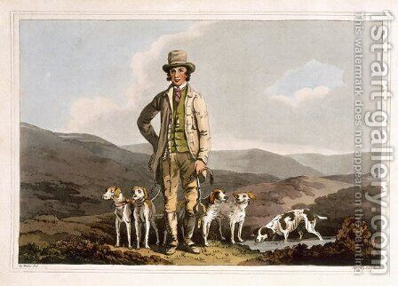 The Dog Breaker, engraved by Robert Havell the Elder, published 1814 by Robinson and Son, Leeds by (after) Walker, George - Reproduction Oil Painting