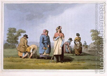 Lowkers, engraved by Robert Havell the Elder, published 1814 by Robinson and Son, Leeds by (after) Walker, George - Reproduction Oil Painting