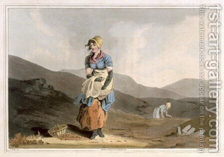 The Cranberry Girl, engraved by Robert Havell the Elder, published 1814 by Robinson and Son, Leeds by (after) Walker, George - Reproduction Oil Painting