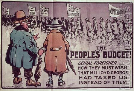 The Peoples Budget, 1909 by Jack Walker - Reproduction Oil Painting