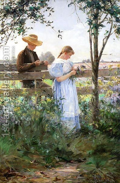 A Country Romance by David B. Walkley - Reproduction Oil Painting