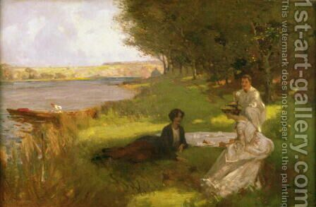The Picnic by James Wallace - Reproduction Oil Painting