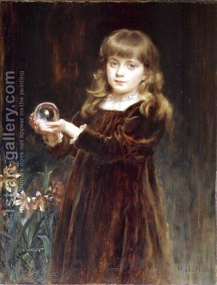 Gladys, daughter of Major Lutley Jordan, 1890 by Mary Lemon Waller - Reproduction Oil Painting
