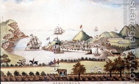 View of Ilfracombe, Devon, 1842 by J. Walters - Reproduction Oil Painting
