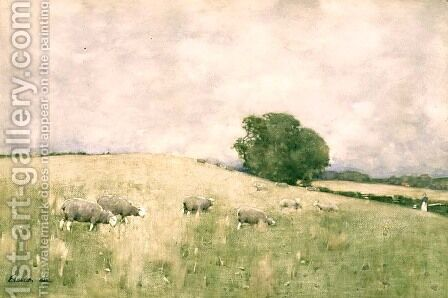 Fresh Pasture, 1883 by Edward Arthur Walton - Reproduction Oil Painting