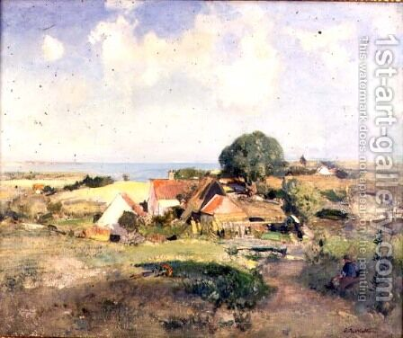 East Anglian Farm by Edward Arthur Walton - Reproduction Oil Painting