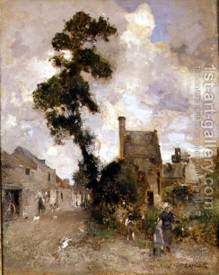 Back Wynd, Ceres by Edward Arthur Walton - Reproduction Oil Painting