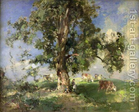 The Old Ash Tree by Edward Arthur Walton - Reproduction Oil Painting