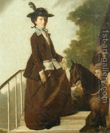 Mrs. Edward Bridgeman, the Artists Sister, c.1771-75 by Henry Walton - Reproduction Oil Painting
