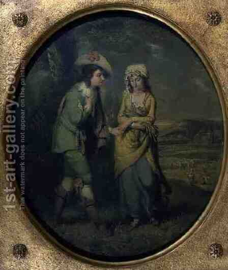 The Courtship by Henry Walton - Reproduction Oil Painting