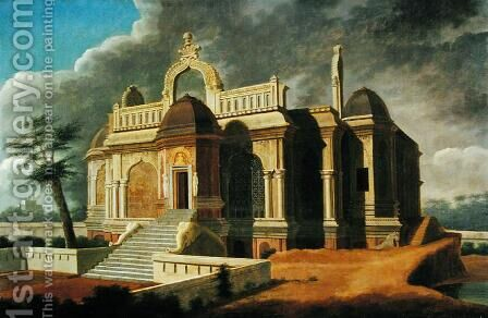 Mausoleum with Stone Elephants, 1788 by Colonel Francis Swain Ward - Reproduction Oil Painting