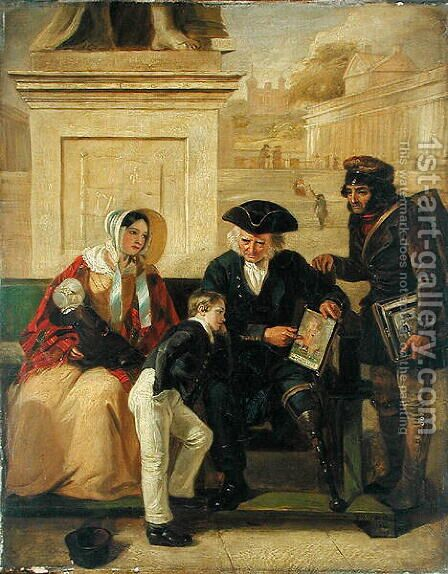 The Veteran of Aboukir, 1844 by Edward Matthew Ward - Reproduction Oil Painting