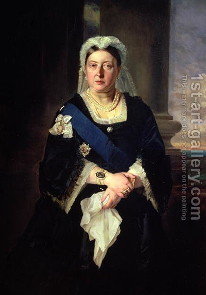 Queen Victoria (1819-1901) after Baron Heinrich von Angeli (1840-1925) by Henrietta Mary Ward - Reproduction Oil Painting
