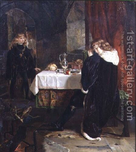 The Princes in the Tower, 1861 by Henrietta Mary Ward - Reproduction Oil Painting