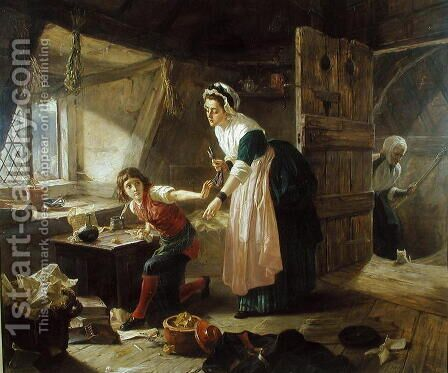 Chatterton 1765 by Henrietta Mary Ward - Reproduction Oil Painting