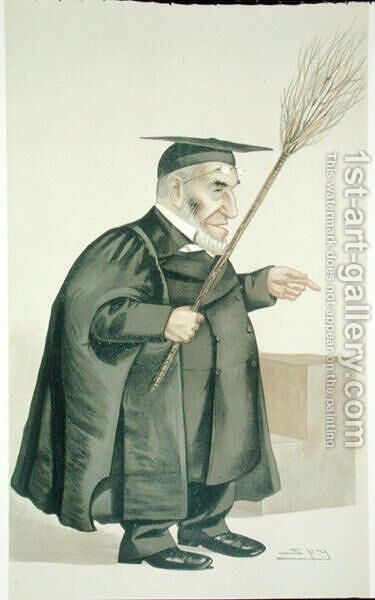 James Leigh Joynes (1853-93), illustration from Men of the Day, published in Punch magazine, 1887 by (after) Ward, Leslie Matthew - Reproduction Oil Painting