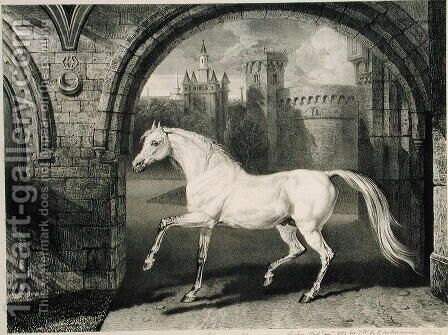 A Persian Horse, from Celebrated Horses, a set of fourteen racing prints published by the artist, 1823-24 by James Ward - Reproduction Oil Painting