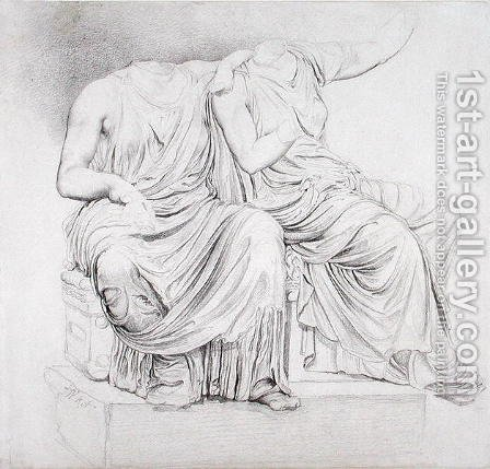 Study of Two Headless Classical Statues by James Ward - Reproduction Oil Painting