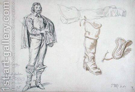 Studies of a Standing Figure, and a Boot, 1825 by James Ward - Reproduction Oil Painting