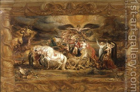 The Triumph of Arthur (1769-1852) Duke of Wellington by James Ward - Reproduction Oil Painting