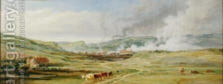 Landscape near Swansea, South Wales by James Ward - Reproduction Oil Painting