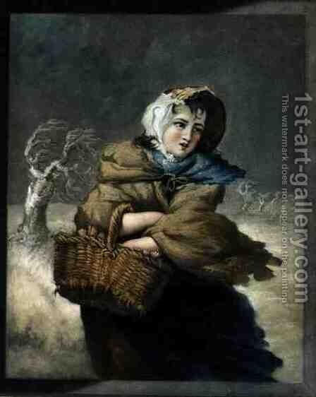 Winter, engraved by the artist, pub. c.1805 by James Ward - Reproduction Oil Painting