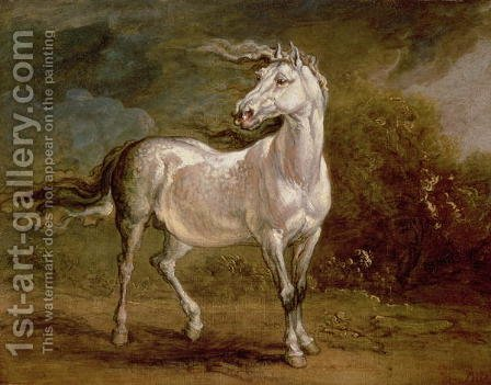 A Grey Charger in a Landscape by James Ward - Reproduction Oil Painting