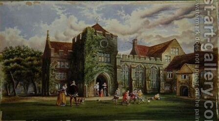 Elizabethan Children Playing Football by James Ward - Reproduction Oil Painting
