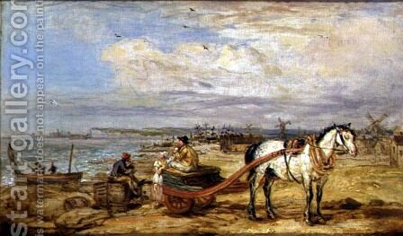 Fisherfolk on the Beach by James Ward - Reproduction Oil Painting