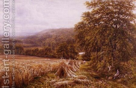 Harvest Time on the Dart by Edmund George Warren - Reproduction Oil Painting