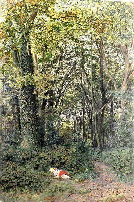 Lost in the Woods, 1859 by Edmund George Warren - Reproduction Oil Painting