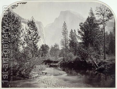 Taysayac, Half Dome, Yosemite by Carleton Emmons Watkins - Reproduction Oil Painting