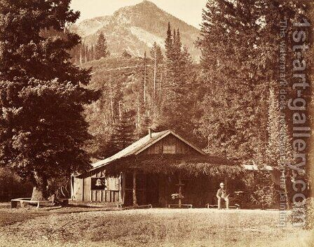 Kessler Peak and Meeks Camp, Big Cottonwood Canyon, Utah, USA, 1861-75 by Carleton Emmons Watkins - Reproduction Oil Painting