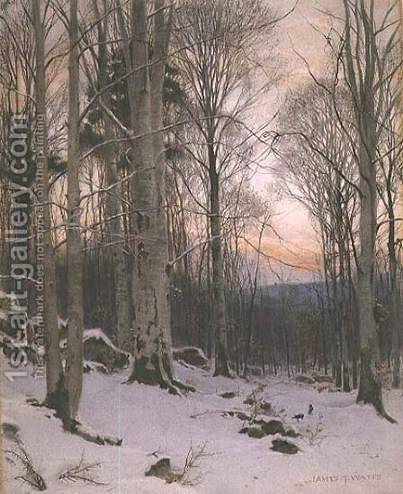 Twilight, Beech Woods by James Thomas Watts - Reproduction Oil Painting