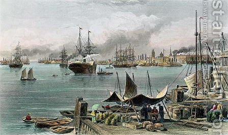 Port of New Orleans, engraved by D.G. Thompson by Alfred R. Waud - Reproduction Oil Painting