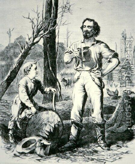 The Pioneer, from Harpers Weekly, 1868 by Alfred R. Waud - Reproduction Oil Painting
