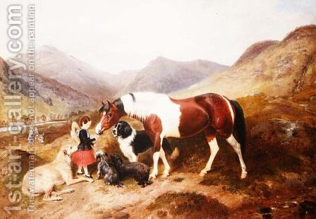 Highland scene by Byron Webb - Reproduction Oil Painting