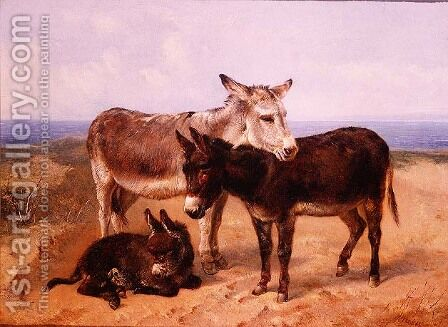 Sand Asses by Henry Weekes - Reproduction Oil Painting