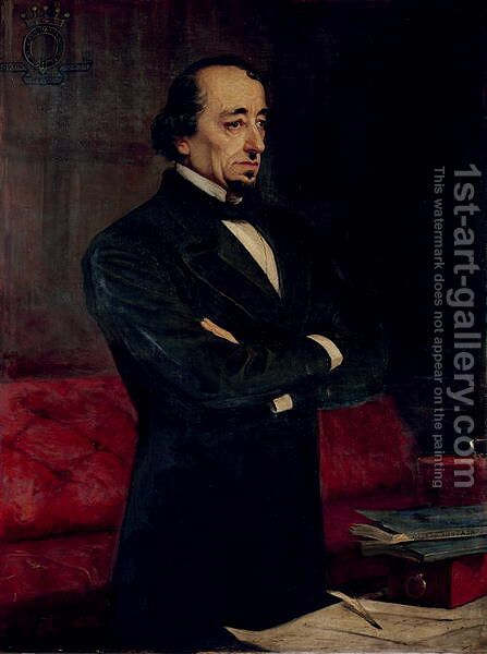 Portrait of Disraeli by Henry Jr. Weigall - Reproduction Oil Painting