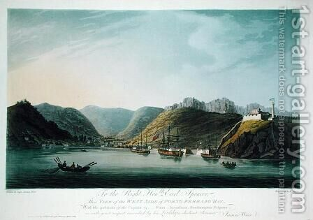 View of the West Side of Porto Ferraio Bay, Elba, engraved by Francis Jukes (1747-1812) published by J. Daniell, April 1814 by (after) Weir, Captain James - Reproduction Oil Painting