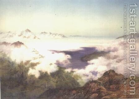 Early Morning from the Schynegge Platte, Switzerland by Arthur Croft - Reproduction Oil Painting