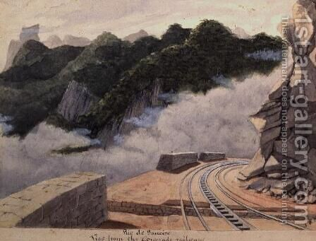 View From the Coronado Railway, Rio de Janeiro by James William Wells - Reproduction Oil Painting